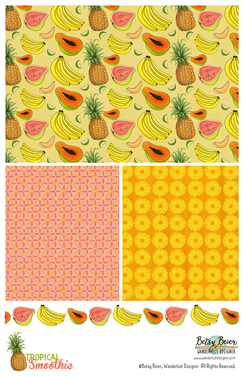 Tropical Smoothie Collection by Betsy Beier