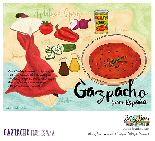 Gazpacho from Spain by Betsy Beier