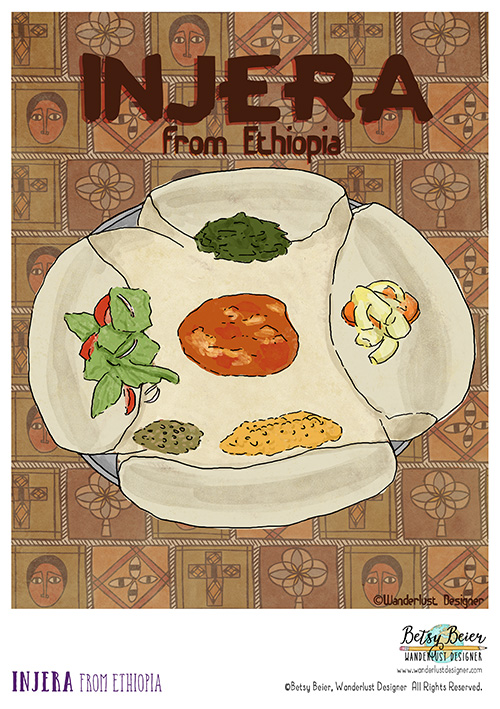 Injera from Ethiopia by Betsy Beier