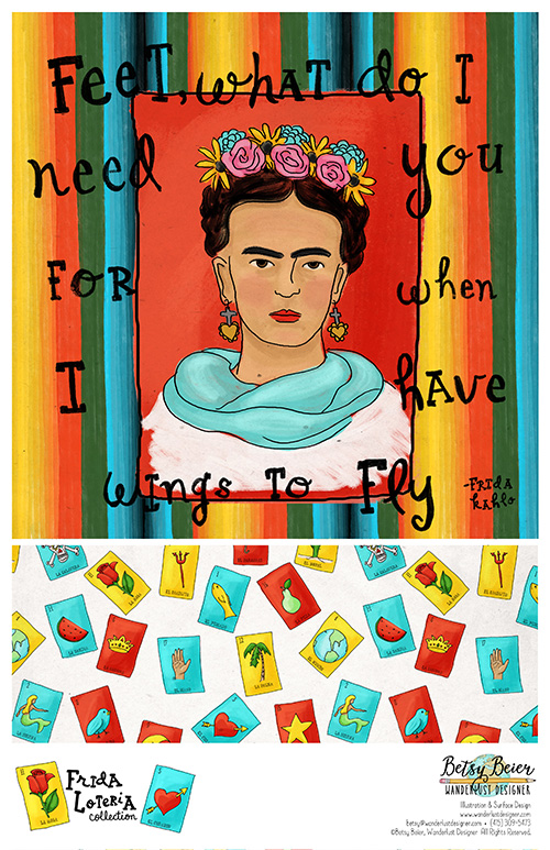 Frida Loteria Collection by Betsy Beier
