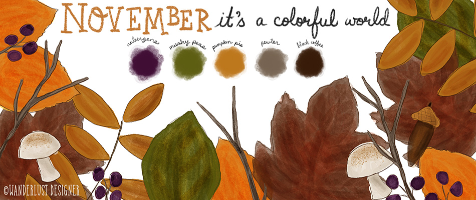 It's a Colorful World - November Palette