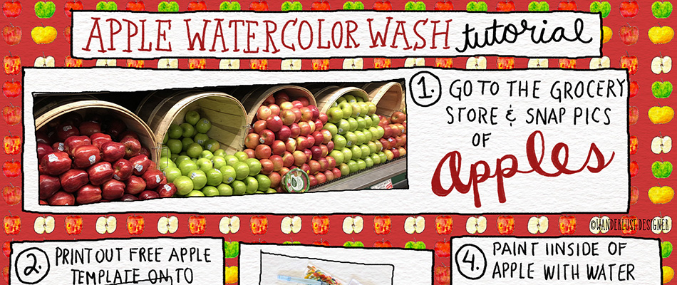 Apple Watercolor Wash Tutorial by Betsy Beier