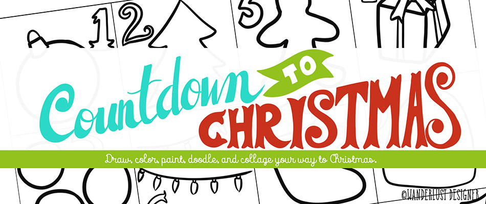Countdown to Christmas Art Project by Wanderlust Designer