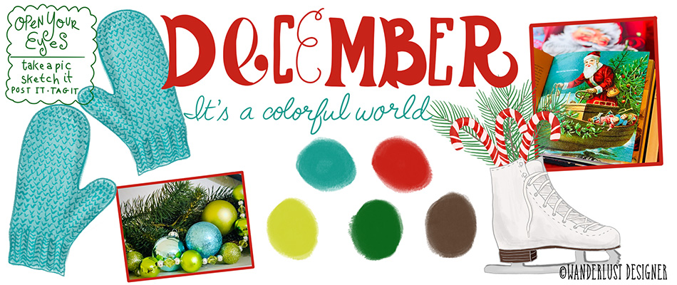 It's a Colorful World - December Color Palette by Wanderlust Designer