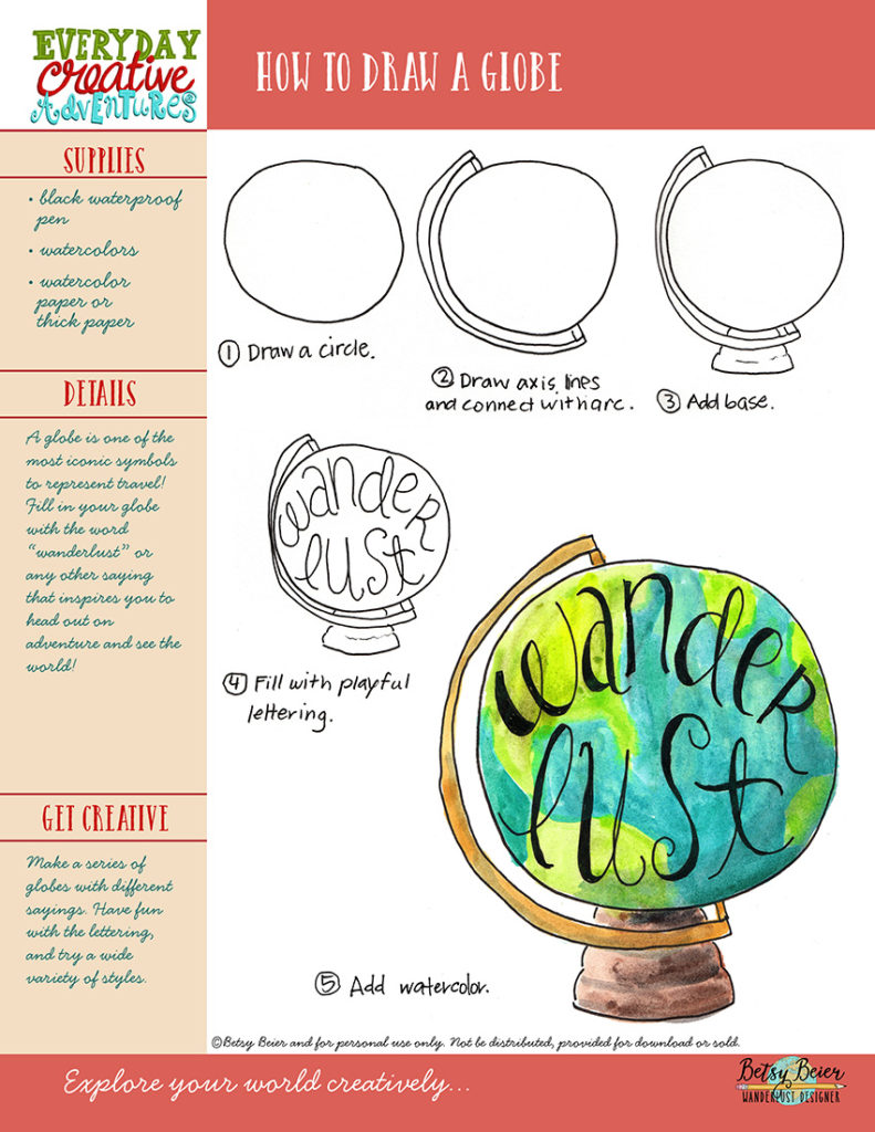 How to Draw a Globe by Betsy Beier