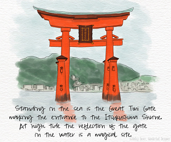 The Great Torii Gate of Itsukushima Shrine by Betsy Beier